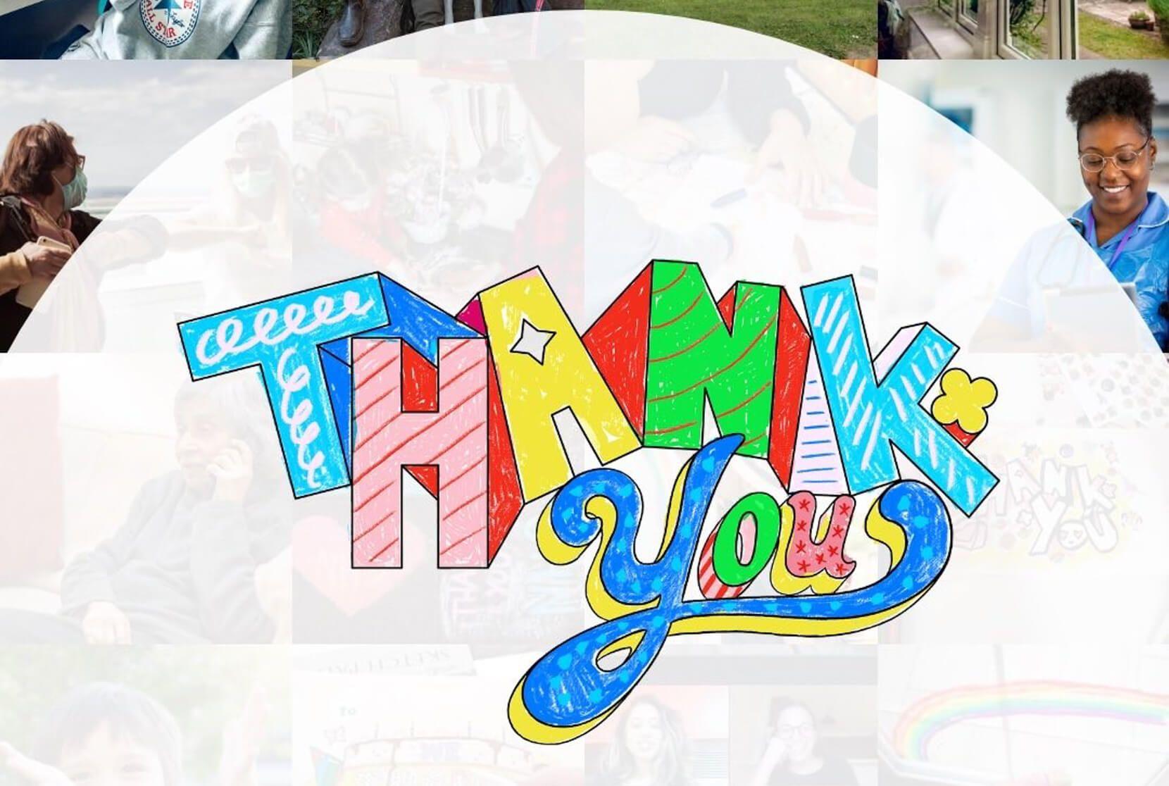 Crayon drawn 'Thank You'