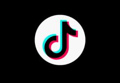TikTok logo on a black background.